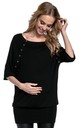 Women's Nursing Top Batwing Sleeves Maternity Breastfeeding 023 by Chelsea Clark