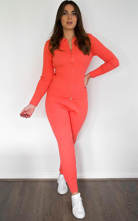 Coral Soft Knit Lounge Set by Styled By Grazia