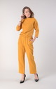 Yellow Jumpsuit with High Neck and Pockets by Bergamo
