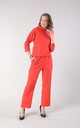 Red Jumpsuit with High Neck and Pockets by Bergamo