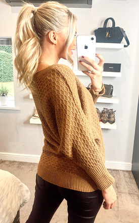 Knitted Batwing Jumper by Mela London