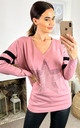 Pink Long Sleeve Jumper Loungewear with Sparkly Star by DIVINE GRACE