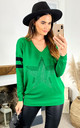 Green Long Sleeve Jumper with Sparkly Star by DIVINE GRACE