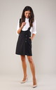 Black Mini Skirt on Braces with Pockets by Bergamo