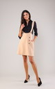 Beige Mini Skirt on Braces with Pockets by Bergamo