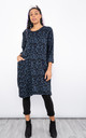 Animal Print Jumper Dress (Blue) by Lucy Sparks