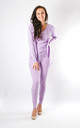 Leah - 3 Piece Soft Knit Loungewear In Lilac by Pinstripe