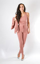 Leah - 3 Piece Soft Knit Loungewear In Dusty Pink by Pinstripe
