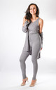 Leah - 3 Piece Soft Knit Loungewear In Grey by Pinstripe