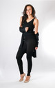 Leah - 3 Piece Soft Knit Loungewear In Black by Pinstripe