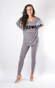 Vittoria - 'J'ADORE' Lounge Set In Grey by Pinstripe