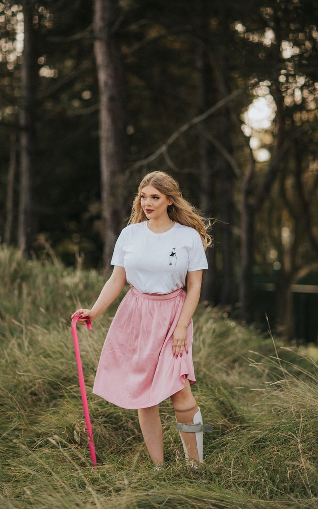 Sally pink circle skirt with pockets by Kintsugi Clothing