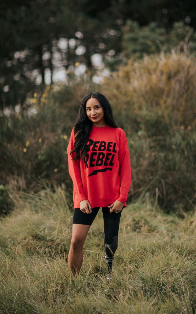 Rebellious Jumper in Red by Kintsugi Clothing