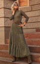Khaki Maxi Tulle Skirt with Lining by Makadamia