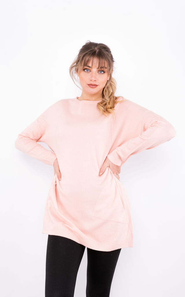 Lightweight A-line Jumper (Pink) by Lucy Sparks
