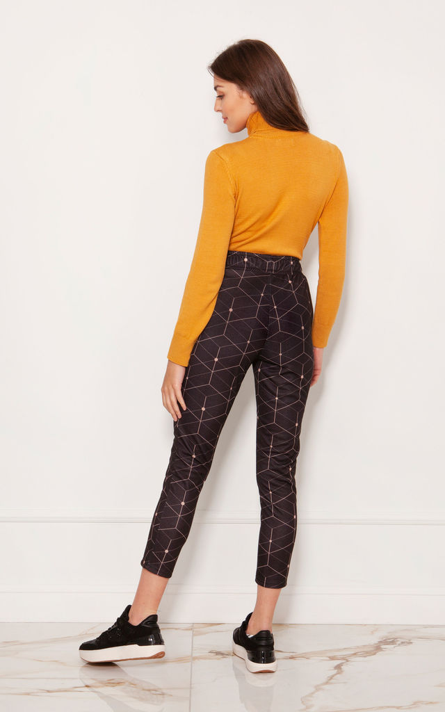 7/8 Leggings with Pockets in Geometric Print by Lanti