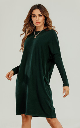 Wool Blended Tunic In Dark Green by FS Collection