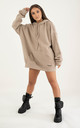 Oversized Raw Edge Hoodie - Sand by sianmarie.com