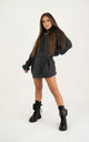 Oversized Raw Edge Hoodie - Dark Grey by sianmarie.com