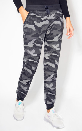 Camouflage Print Navy Cuffed Joggers by KRISP