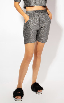 Two Pocket Silver Lurex Shorts by KRISP