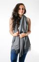 Plain Soft Touch Fashion Scarf In Grey by Pinstripe