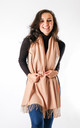 Plain Soft Touch Fashion Scarf In Beige by Pinstripe