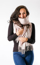 Plain Soft Touch Fashion Scarf In Ivory by Pinstripe