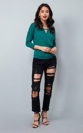 R&R Laine Black Ripped Jeans by Oya London