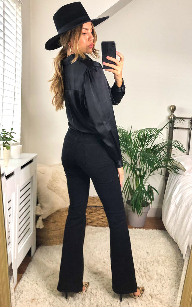 Flare Jeans  in Black by FreeSpirits
