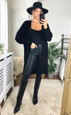 Lana Knitted Mid Length Cardigan- Black by SlayTwins