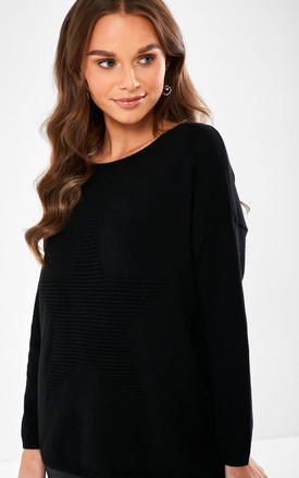 Victoria Star Jumper in Black by Marc Angelo