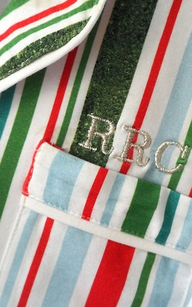 Candy Cane Cotton Personalised Pyjamas by Nancy and Nora