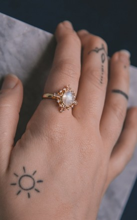 Izarra Moonstone Ring by Luna Charles