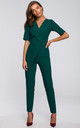 Jumpsuit with a Double Front in Green by MOE