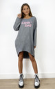 Livin' Doll Oversized Sweatshirt in Grey by Love