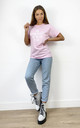 Pink Loungewear Tshirt with On Wednesdays We Wear Pink Slogan by Love