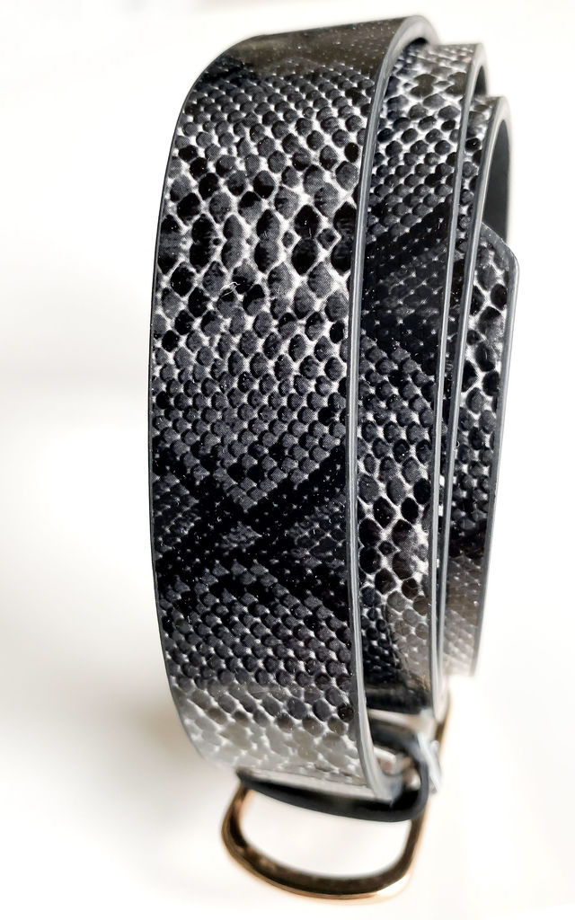 Snake Skin Belt in Black and White by FreeSpirits