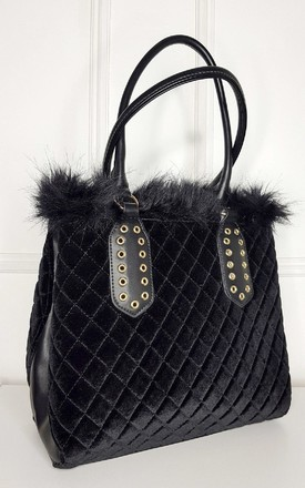 Jes Faux Fur Handbag by IKRUSH