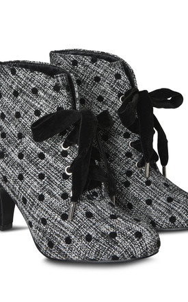 Tweedy Polka Dot Boots by Joe Browns