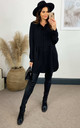 Oversized Long Sleeve Relaxed Fit Shirt in Black by HOXTON GAL