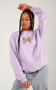Lilac Personalised Initial Oversized Sweatshirt by LimeBlonde
