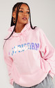 Baby Pink Personalised STARSIGN Oversized Hoodie by LimeBlonde