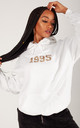 White Personalised YEAR Oversized Hoodie by LimeBlonde