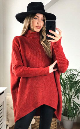 Callie Knit Jumper - Rust by Pretty Lavish