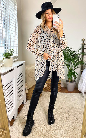 Lauren Animal Lurex Spot Print Oversize Blouse With Hi Lo Hem by Edie b. Product photo