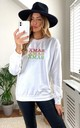 White Christmas Embroidered Jumper Sweatshirt by Fearless Alice Custom
