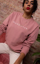 Oversized Hungover Sweatshirt in Dusky Pink by Rock On Ruby
