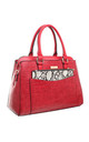 CROC PRINT TOTE WITH SNAKE PRINT FRONT POCKET by BESSIE LONDON
