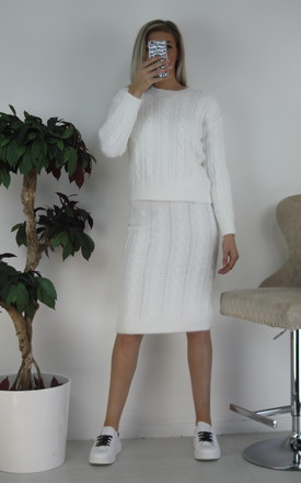 2 piece  knitted co-ords white by Port boutique